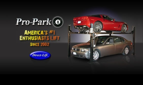 Four Post Pro Park 8 by Direct Lift